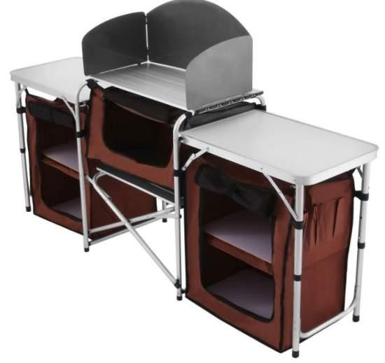 Happybuy Portable Camping Kitchen Table.