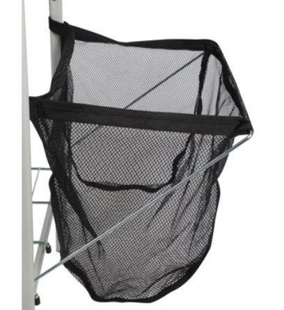 Flexible mesh bin.