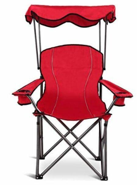 Goplus Folding Beach Chair w/Canopy.