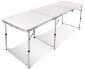 REDCAMP Aluminum Folding Table 6 Foot