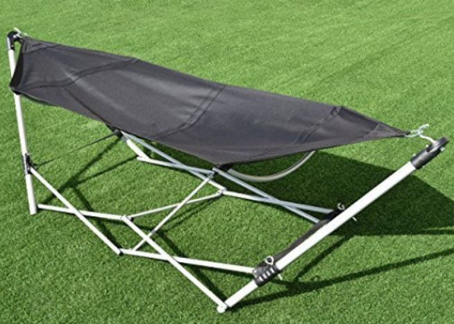 Giantex Portable Hammock with Stand-Folds.