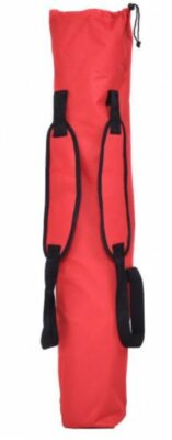 Shoulder harness on the carry bag.