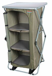 Bushtec Adventure Sierra Canvas Camp Cupboard, Camping Table or Outfitter Cupboard, Table