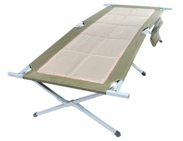 Bushtec Adventure Sierra Oversized Canvas Camp Bed.