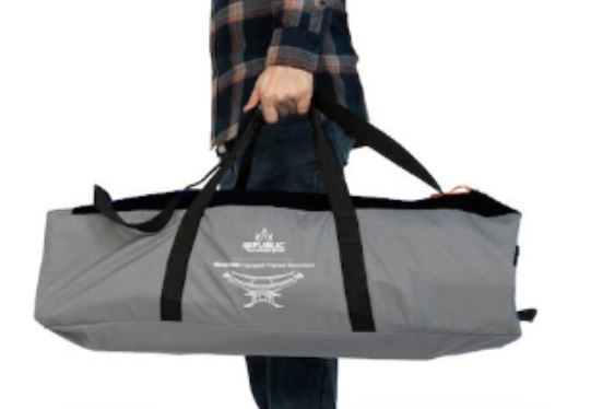 The duffel carry bag is included.