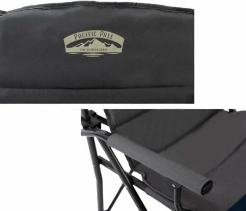 Fully padded backrest and seat, and padded solid armrests.