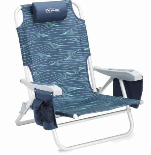 Lightspeed Outdoors Reclining Beach Chair.
