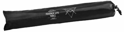 This is how the Mountain Summit Gear Feather-Lite Table looks in its carry bag.