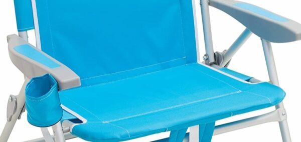 Solid armrests and a bottle holder.