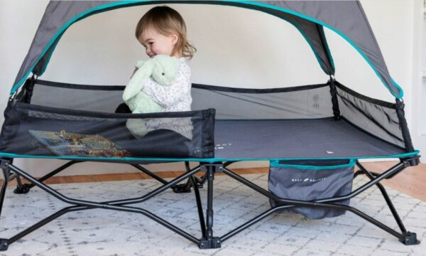 The net is pre-attached to the cot.