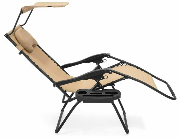 Reclining chair with a footrest - this is behind the so-called Zero Gravity feature.
