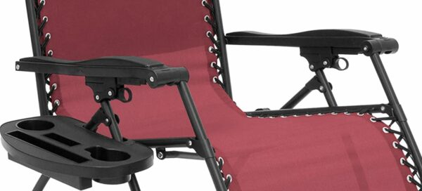 Solid armrests and a unique side storage.
