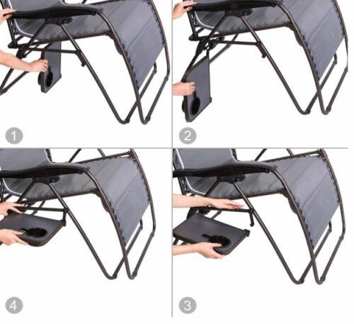 Folding side table.