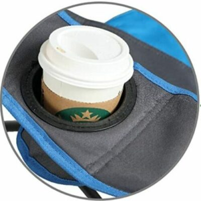 Integrated cup holder.