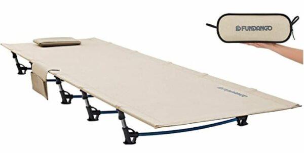 FUNDANGO Extra Long Ultralight Folding Compact Camping Cot