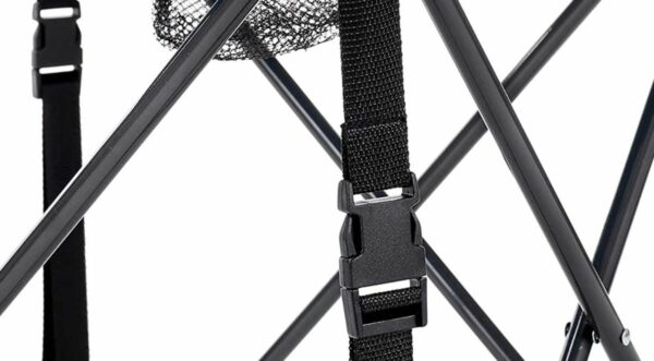Corner straps with buckles.