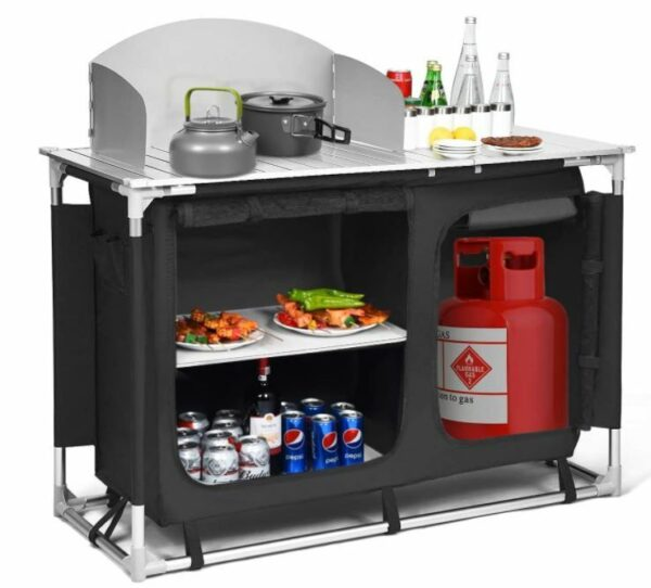 Giantex Portable Camping Kitchen Table.