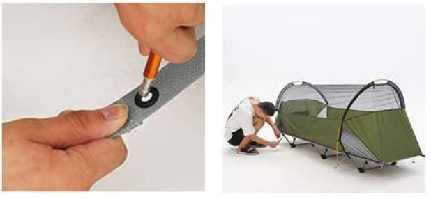 Freestanding inner tent.