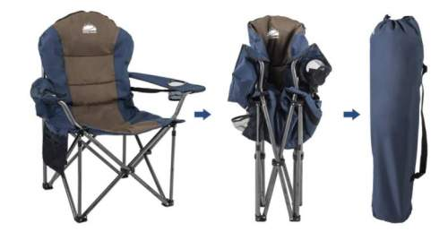Folding chair, packs in seconds.