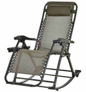 Outsunny Folding Zero Gravity Rocking Lounge Chair