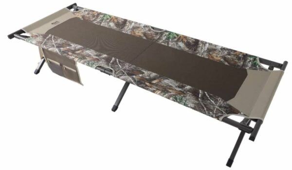 Timber Ridge TR Cedar Deluxe Camo Heavy Duty Folding Cot top view.