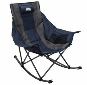 Coastrail Outdoor Camping Rocking Oversized Padded Portable Folding Rocker Chair.