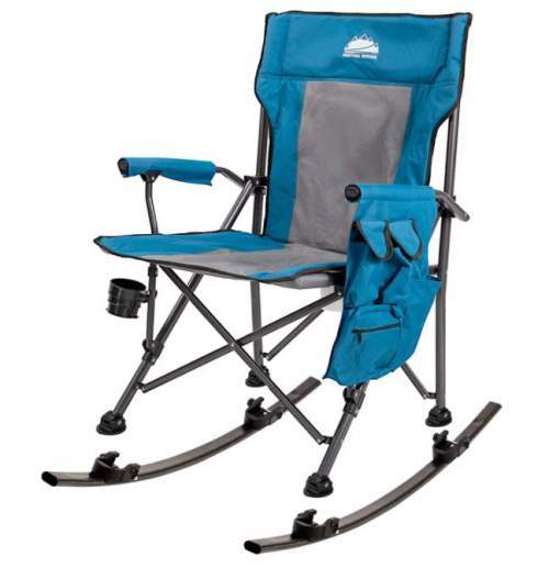 Coastrail Outdoor Folding Rocking Chair with Detachable Rockers.
