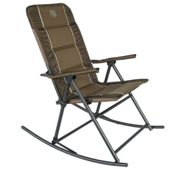 TIMBER RIDGE High Back Folding Camping Rocking Chair Hard Armrest
