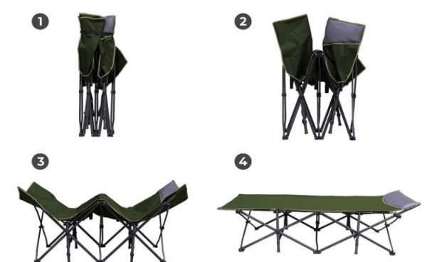 Folding cot, no assembly.