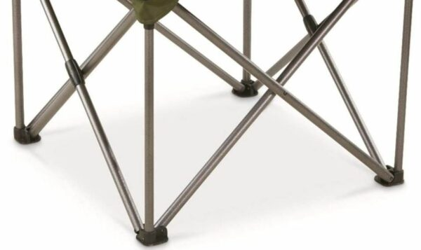 Strong and stable steel frame.