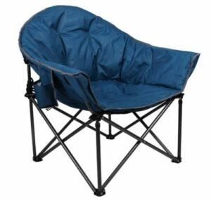 ALPHA CAMP Oversized Camping Chairs Padded Moon Round Chair.