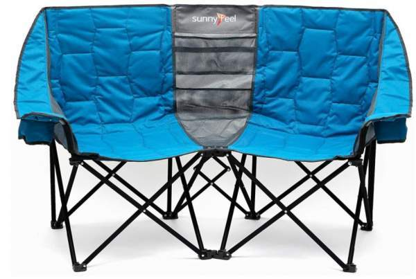 SUNNYFEEL Double Folding Camping Chair front view.