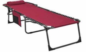 KingCamp Portable Folding Camping Cot Adjustable 4-Position