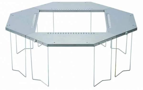 Snow Peak Jikaro Firering Table - octagonal configuration.