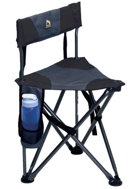 GCI Outdoor Quick-E-Seat Folding Tripod Field Chair with Backrest.