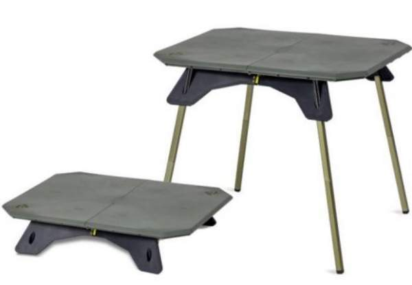 Nemo Moonlander Dual Height Table in two different setups.
