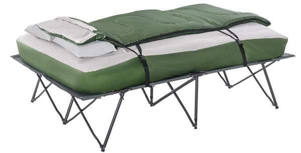 Outsunny Compact Collapsible Portable Camping Cot Bed Set.
