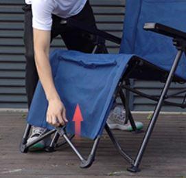 Folding footrest bar.