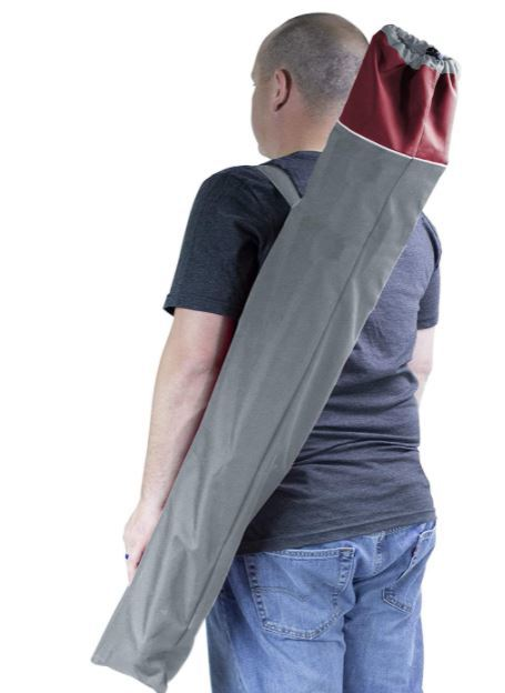 Wide mouth carry bag.