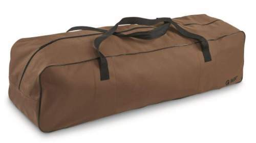 Nicely designed zippered carry bag with handles.
