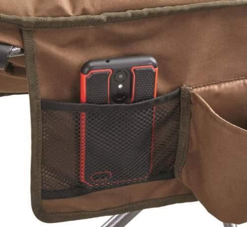 A small side mesh pocket.