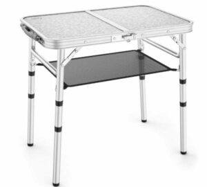 Sportneer Adjustable Height Camping Table with Mesh Layer