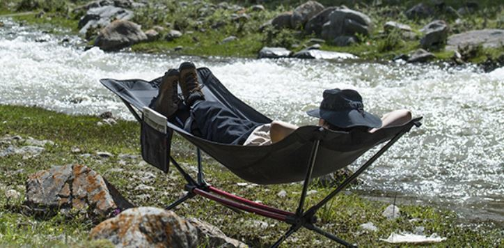 Cot-hammock hybrid.
