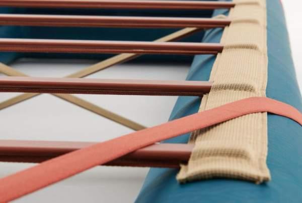 Pre-attached slats/poles.