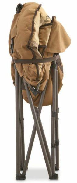 This is how the chair looks when folded.