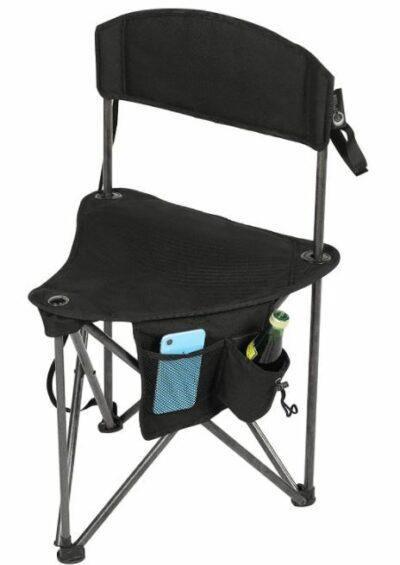 PORTAL Extra Large Quick Folding Tripod Stool with Backrest.