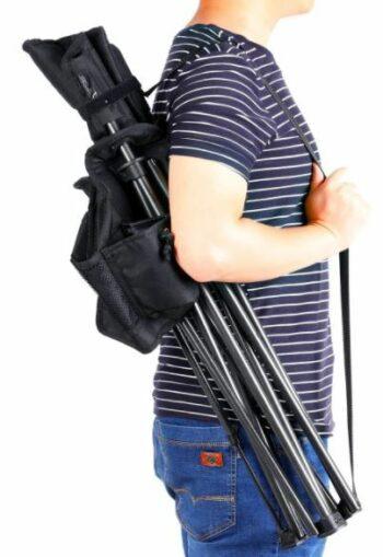 Shoulder strap is included.