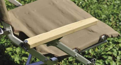 Bamboo armrests.