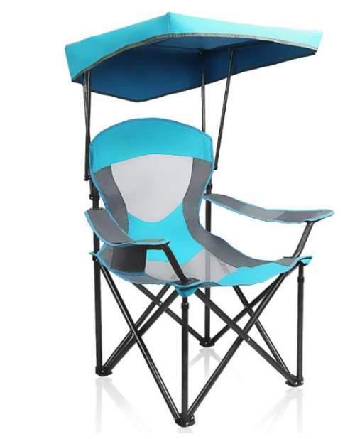 ALPHA CAMP Heavy Duty Canopy Lounge Chair with Sunshade.